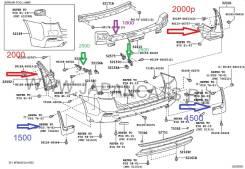 Брызговики. Toyota Highlander, GSU40, GSU45, GSU40L Двигатель 2GRFE