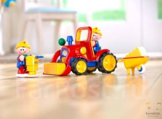 Детская развивающая игрушка Tolo Первые друзья, Трактор 1-5 лет.
