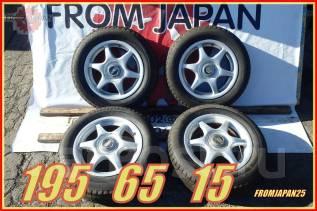 195/65R15 Зимние шины Bridgestone на литье 5х114.3. Отправка по России. x15 5x114.30 ET45 ЦО 73,0мм.