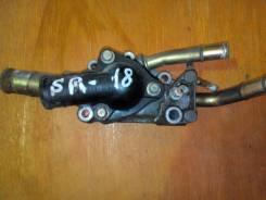 Корпус термостата. Nissan Bluebird Двигатели: SR18DI, SR18DE