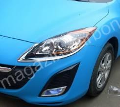 Накладка на фару. Mazda Axela, BL3FW, BL5FP, BL5FW, BLEAP, BLEAW, BLEFP, BLEFW, BLFFP, BLFFW Двигатели: L3VDT, LFVDS, LFVE, PEVPS, ZYVE