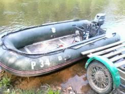 Продам лодку с мотором 30л. с. Год: 1996 год, длина 4,30м., двигатель подвесной, 30,00л.с., бензин