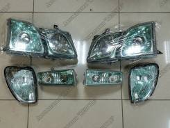 Фара. Lexus LX470, UZJ100 Toyota Land Cruiser Cygnus, UZJ100W Двигатель 2UZFE