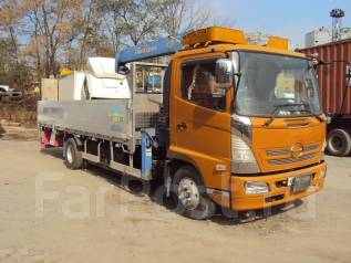 Hino Ranger. 2005г. Б/П бортовой с краном Tadano Саrgo ZR 364., 7 960 куб. см., 6 000 кг.