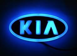 Эмблема 4D синяя подсветка (119x62) Киа. Kia Bongo Kia Pregio Двигатель 4D56