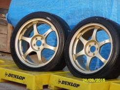1464. Пара дисков SSR TypeC 17x7,5J +50 100x5 + летние шины 215-45-17. 7.5x17 5x100.00 ET50 ЦО 67,1мм.