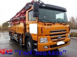 Hyundai Trago. Бетононасос JunJin JX-H4317 (42 метра) 2011 год., 12 344 куб. см., 42 м.