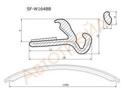 Молдинг лобового стекла MERCEDES-BENZ ML-CLASS W164 05-/GL-CLASS X164 06- нижний SAT SF-W164BB