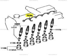 Трубка топливного насоса. Nissan: Homy, Laurel Spirit, Terrano II, Datsun, Caravan, Safari, Atlas, Terrano, Vanette Truck, Vanette, Datsun Truck, Mist...