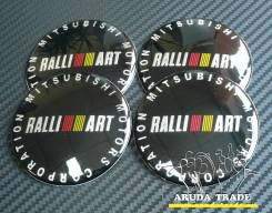 "Заглушки, накладки на литье Ralliart mitsubishi (черные). Диаметр 6.5"""", 1шт"