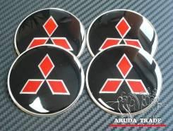 Заглушки, накладки на литье Mitsubishi (черные) логотип