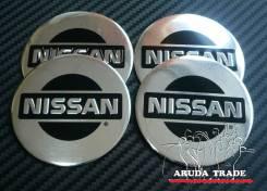 """Заглушки, накладки на литье Nissan (светлые) плоские. Диаметр 5.5"""", 1 шт."""