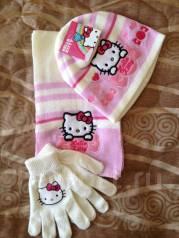 Шапка, шарф и перчатки. Рост: 98-104 см