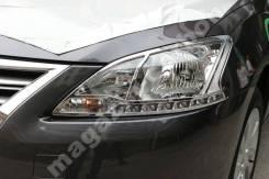 Накладка на фару. Nissan Sentra, B17 Nissan Sylphy Двигатель HR16DE
