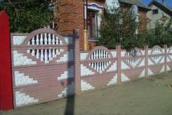 Декоративный , секционный забор из бетона, Высота от 0.5 м до 2.0м