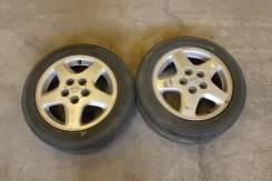 Пара оригинальных дисков Nissan Silvia Skyline R16 с резиной. 6.5x16 5x114.30 ET40