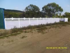 Декоративный, секционный забор из бетона. Высота от 0.5м до 2.0м.