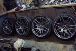 Летний комплект колес. Кованные диски Forgestar F14 R19 резина Hankook. 8.5/8.5x19 5x112.00 ET40/45 ЦО 57,1мм.