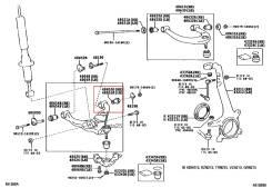 Сайлентблок подвески. Toyota: Hilux Surf, 4Runner, GX470, Land Cruiser Prado, FJ Cruiser Lexus GX470, UZJ120 Двигатели: 2TRFE, 5VZFE, 3RZFE, 1KDFTV, 1...