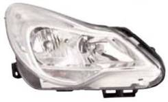 Фара. Opel Corsa, S07 Двигатели: A10XEP, A16LER, Z16LEL, A12XER, A14XER, Z16LER, A16LEL