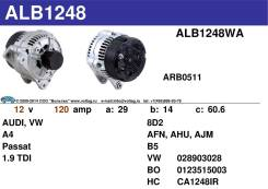 Генератор. Volkswagen Passat Audi A4, B5 Двигатели: AJM, AHU, AFN, AVG, AHH