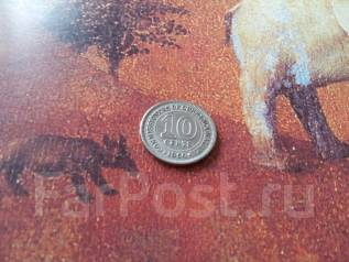 Экзотика! Малайя (Британский Борнео). 10 центов 1950 года.