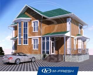 M-fresh Comfort-зеркальный (Проект дома с потрясающим эркером! ). 200-300 кв. м., 2 этажа, 5 комнат, кирпич