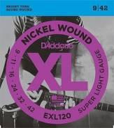 D`Addario EXL120 XL Nickel Wound Струны для электрогитары Super Light