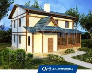M-fresh Japan style-зеркальный (Проект прекрасного уютного дома! ). 200-300 кв. м., 2 этажа, 4 комнаты, бетон