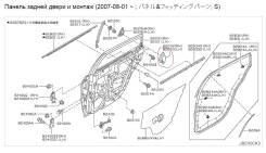 Накладка декоративная. Nissan Teana, TNJ31, J31, PJ31 Двигатели: QR25DE, VQ35DE, VQ23DE, QR20DE