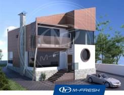 M-fresh Modern-зеркальный (Проект дома в современном стиле! ). 200-300 кв. м., 2 этажа, 6 комнат, бетон