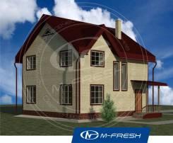 M-fresh Feng Shui (Готовый проект небольшого дома с мансардой). 100-200 кв. м., 1 этаж, 4 комнаты, бетон