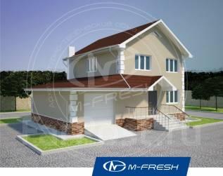 M-fresh Elegance-зеркальный (Металлочерепица, стропила, крыльцо). 100-200 кв. м., 2 этажа, 4 комнаты, бетон