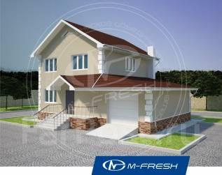 M-fresh Elegance (Проект дома со встроенным гаражом! Посмотрите! ). 100-200 кв. м., 2 этажа, 4 комнаты, бетон