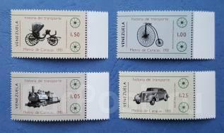 1981 Венесуэла. История транспорта. 4 марки. Чистые