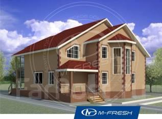 M-fresh New dance (Проект 2-этажного дома с зимним садом! ). 300-400 кв. м., 2 этажа, 5 комнат, бетон