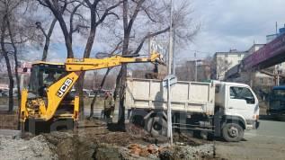 Вывоз мусора , грунта. Отсыпка территорий