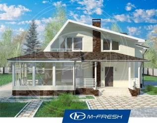 M-fresh Audi style (Проект дома с угловым камином. Посмотрите! ). 200-300 кв. м., 2 этажа, 4 комнаты, бетон