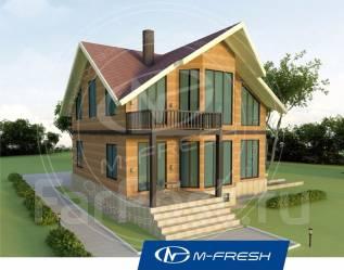M-fresh Country (Проект дома для жизни на свободе! ). 200-300 кв. м., 1 этаж, 5 комнат, дерево