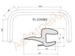 Молдинг лобового стекла HYUNDAI ACCENT 00-06/ACCENT Тагаз 01- FLEXLINE FL-2162BZ