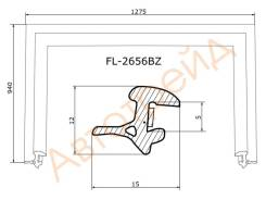 Молдинг лобового стекла FLEXLINE FL-2656BZ