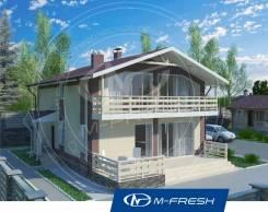 M-fresh Mustang (Прекрасный проект дома с витражами и террасой! ). 200-300 кв. м., 2 этажа, 5 комнат, комбинированный