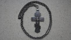 Крест наперсный серебряный с монограммой имп. Николая II. Москва, 1896. Оригинал