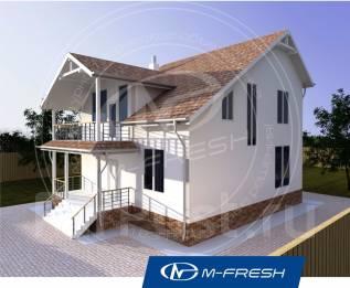 M-fresh Handy-зеркальный (Покупайте сейчас проект со скидкой 20%! ). 100-200 кв. м., 2 этажа, 5 комнат, комбинированный