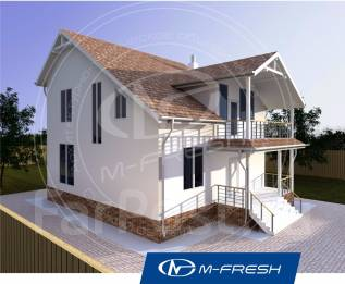 M-fresh Handy (Проект дома для яркой жизни на природе! ). 100-200 кв. м., 2 этажа, 5 комнат, комбинированный