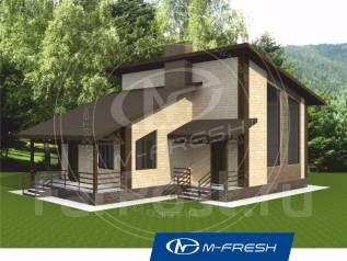 M-fresh Sport (Проект 1-этажного дома с мансардой! Посмотрите! ). 100-200 кв. м., 1 этаж, 4 комнаты, комбинированный