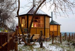 Теплые гриль-домики на берегу! В любую погоду! Кунгасный парк.