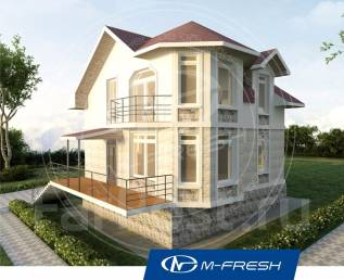 M-fresh Проект Window-зеркальный (Дом с 4 комнатами, холл, санузел). 100-200 кв. м., 2 этажа, 4 комнаты, бетон