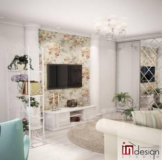 """Нотки прованса от Студии """"Ин дизайн"""". Тип объекта квартира, комната, срок выполнения месяц"""
