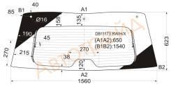 Стекло заднее (крышка багажника) с обогревом CHEVROLET SUBURBAN/TAHOE 07-/GMC YUKON 06- /CADILLAC ES DB11173 RW/H/X, NO, NO, 25864422, 15932588, D25-D...
